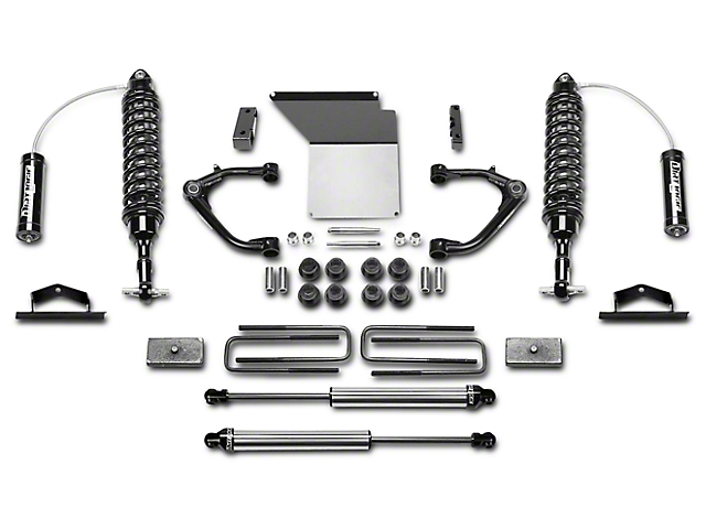 Fabtech 4 in. Uniball Upper Control Arm System w/ Dirt Logic Reservoir Coilovers & Shocks (14-18 2WD/4WD Sierra 1500 Double Cab, Crew Cab, Excluding Denali)