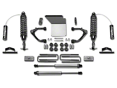 Fabtech 4 in. Uniball Upper Control Arm System w/ Dirt Logic Coilover Reserviors & Shocks (14-18 2WD/4WD Sierra 1500 Double Cab, Crew Cab, Excluding Denali)