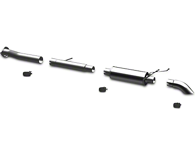 Magnaflow Off Road Pro Series Single Exhaust System - Turn Down (07-13 4.8L Sierra 1500)