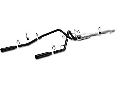 Magnaflow MF Series Black Dual Exhaust System - Rear Exit (10-13 4.3L Sierra 1500)