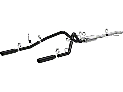 Magnaflow MF Series Black Dual Exhaust System - Rear Exit (10-13 5.3L Sierra 1500)