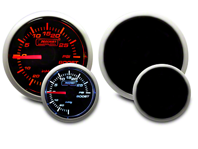 Prosport Dual Color 30 PSI Boost/Vac Gauge - Mechanical - Amber/White (07-18 Sierra 1500)