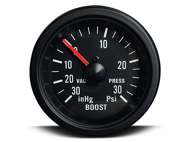 Prosport 52mm Boost Gauge; Mechanical; 30 PSI; Amber/White (Universal; Some Adaptation May Be Required)