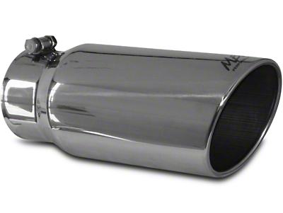 MBRP 5 in. Angled Rolled Edge Exhaust Tip - Polished Stainless - 4 in. Connection (07-18 Sierra 1500)