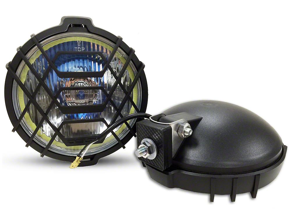 Delta 150 Series Driving Light Kit w/ DRL LED Halos - 55 Watt Xenon - Pair