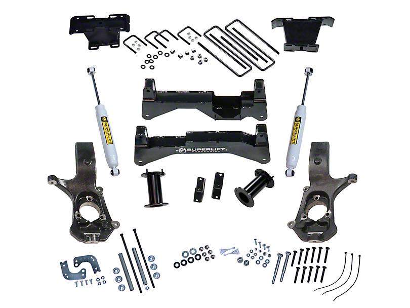 SuperLift 8 in. Suspension Lift Kit w/ Superide Shocks (14-18 4WD Sierra 1500, Excluding Denali)