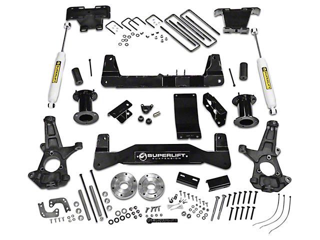 SuperLift 6.50-Inch Suspension Lift Kit with Superide Rear Shocks (14-18 4WD Sierra 1500, Excluding Denali)