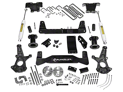 SuperLift 6.5 in. Suspension Lift Kit w/ Superide Rear Shocks (14-18 4WD Sierra 1500, Excluding Denali)