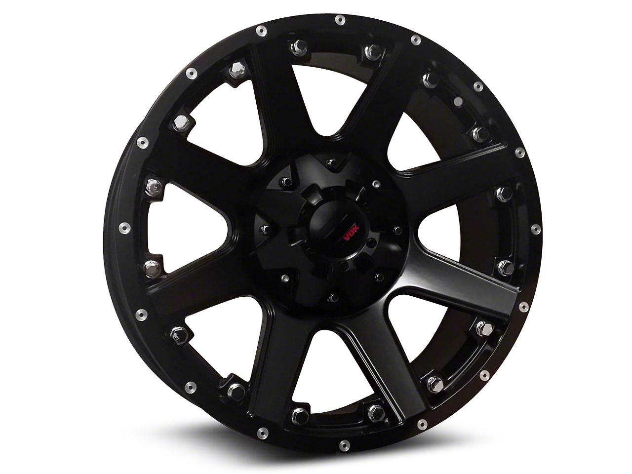 Havok Off-Road H102 Matte Black 6-Lug Wheel - 20x9 (07-18 Sierra 1500)