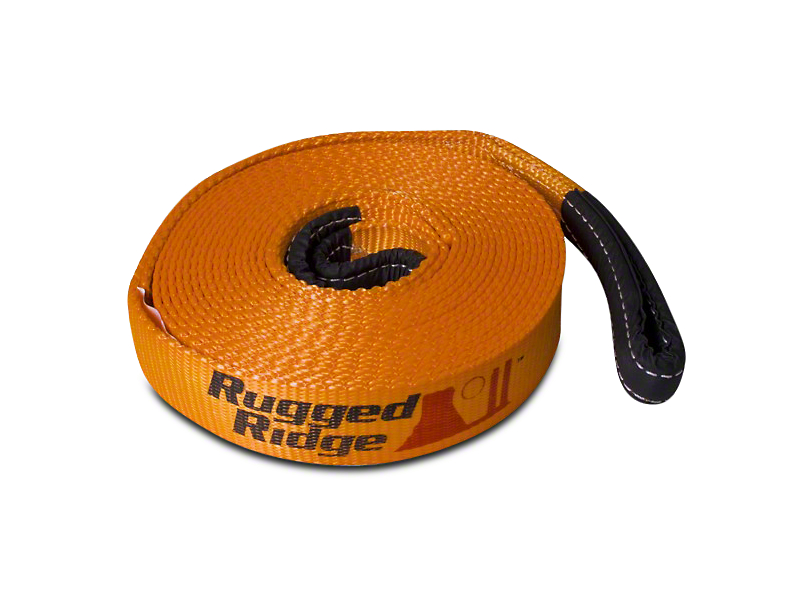Rugged Ridge 4 in. x 30 ft. Recovery Strap - 40,000 lbs.