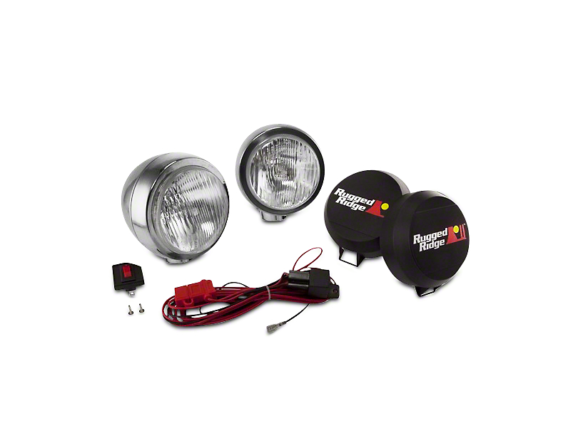 Rugged Ridge 5 in. Round HID Off-Road Fog Lights - Pair (07-18 Sierra 1500)