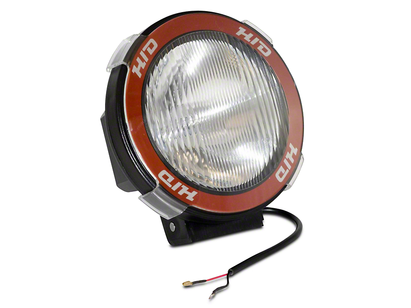 Rugged Ridge 5 in. Round HID Off-Road Fog Light w/ Black Composite Housing - Single (07-19 Sierra 1500)