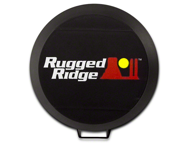 Rugged Ridge 5 in. HID Off-Road Light Cover - Black (07-18 Sierra 1500)