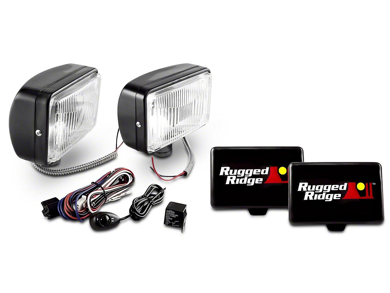 Rugged Ridge 5x7 in. Halogen Fog Lights - Pair