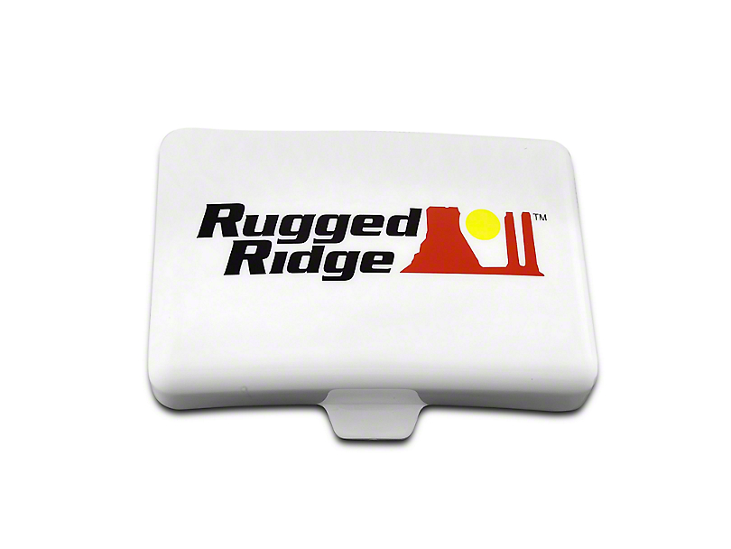 Rugged Ridge 5x7 in. Off-Road Light Cover - White (07-19 Sierra 1500)