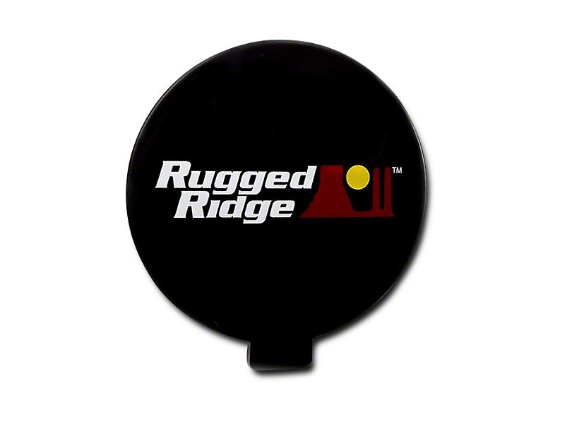 Rugged Ridge 6 in. Slim Off-Road Light Cover - Black (07-18 Sierra 1500)
