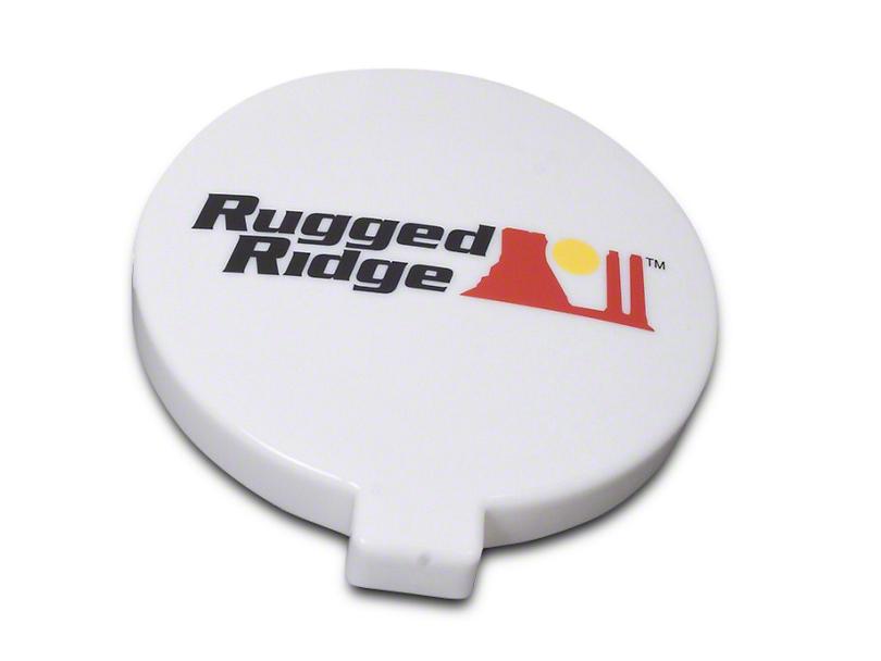Rugged Ridge 6 in. Slim Off-Road Light Cover - White (07-19 Sierra 1500)