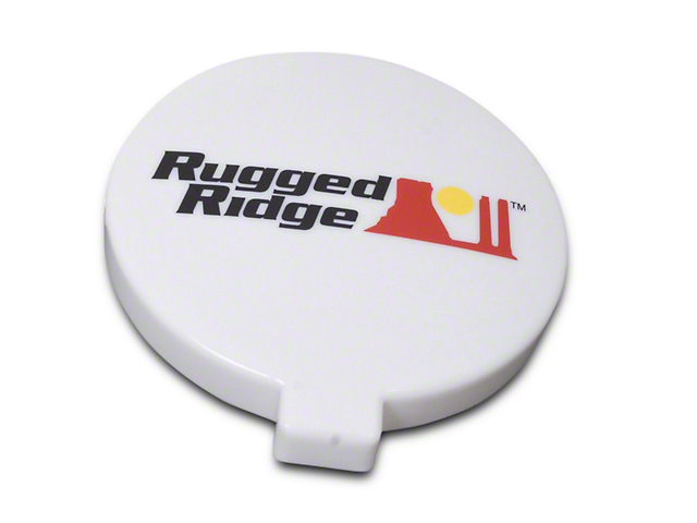 Rugged Ridge 6 in. HID Off-Road Light Cover - White (07-18 Sierra 1500)