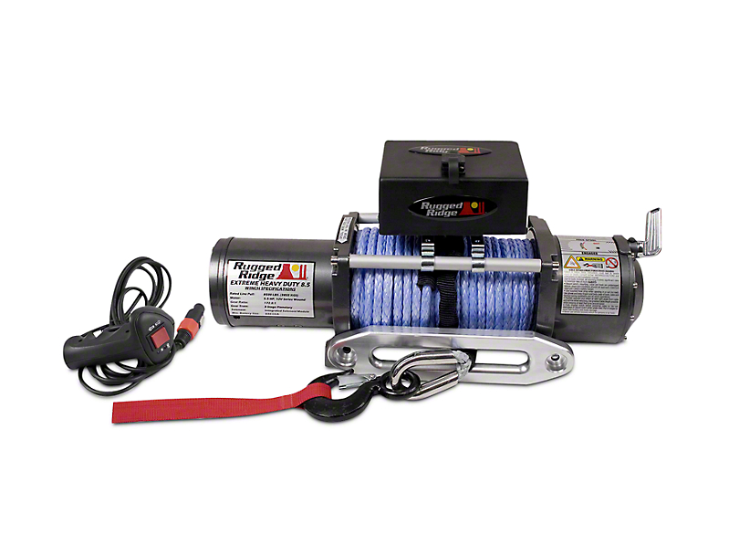 Rugged Ridge Performance 8,500 lb. Winch w/ Synthetic Rope (07-18 Sierra 1500)
