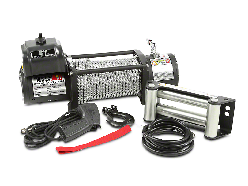Rugged Ridge Spartacus Heavy Duty 12,500 lb. Winch w/ Steel Cable