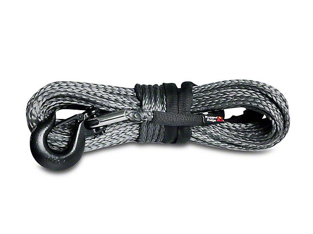 Rugged Ridge 7/16 in. x 90 ft. Dark Gray Synthetic Winch Line - 22,500 lbs.