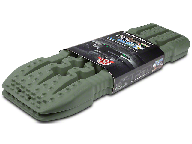 TRED 800 Traction Boards - Military Green