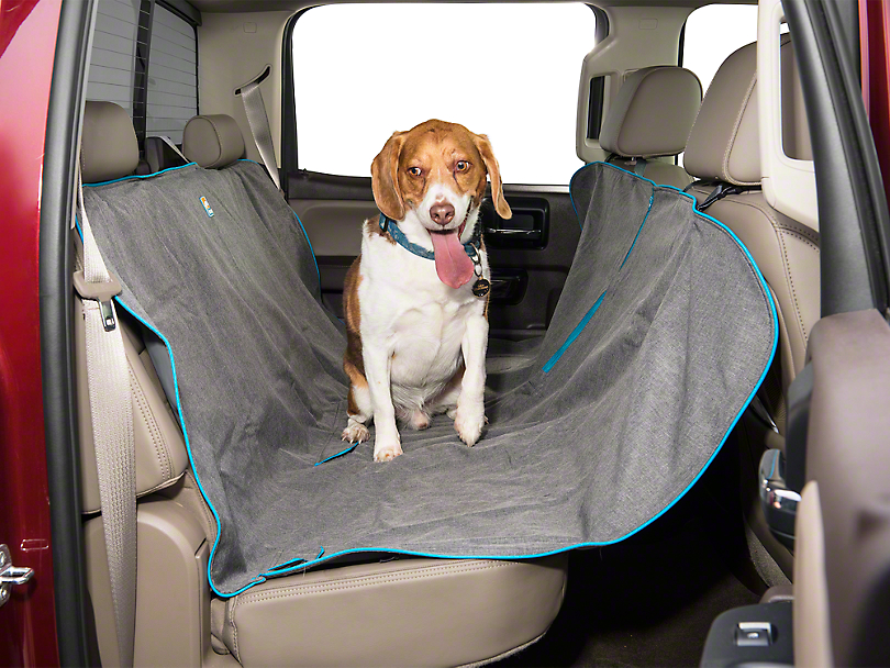 Heather Pattern Dog Hammock - Charcoal (07-19 Sierra 1500 Extended/Double Cab, Crew Cab)