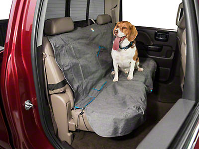 Kurgo Heather Pattern Rear Bench Seat Cover - 55 in. Wide - Charcoal (07-18 Sierra 1500 Extended/Double Cab, Crew Cab)