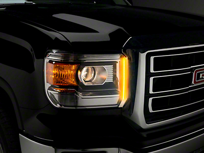 Putco SwitchBack LED DayLiners - Black (14-18 Sierra 1500)
