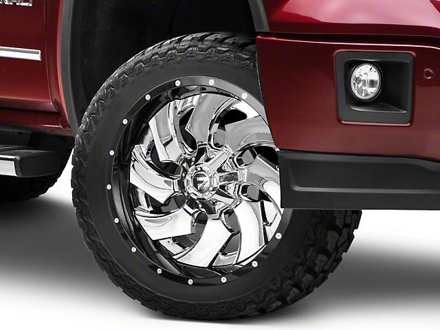 Fuel Wheels Cleaver Chrome w/ Gloss Black 6-Lug Wheel - 22x10 (07-18 Sierra 1500)