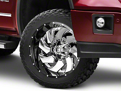 Fuel Wheels Cleaver Chrome w/ Gloss Black 6-Lug Wheel - 22x12 (07-18 Sierra 1500)
