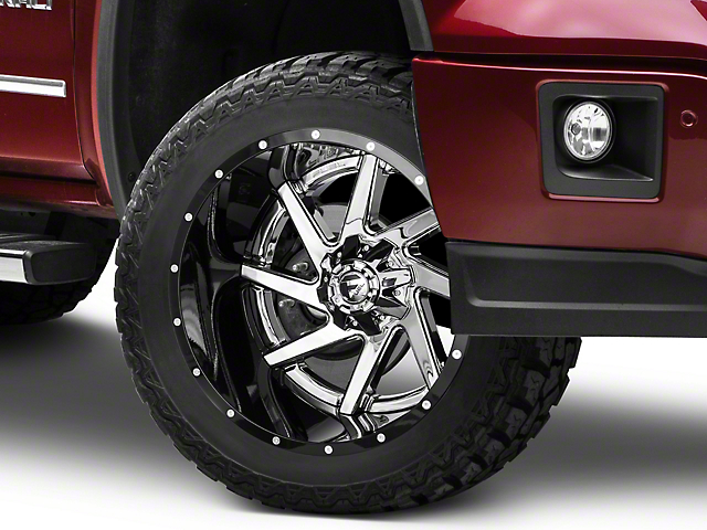 Fuel Wheels Renegade Chrome w/ Gloss Black Lip 6-Lug Wheel - 22x14 (07-18 Sierra 1500)