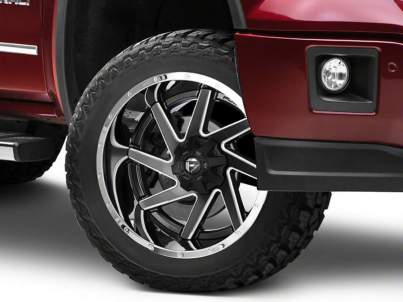 Fuel Wheels Renegade Black Milled w/ Chrome 6-Lug Wheel - 22x12 (07-19 Sierra 1500)