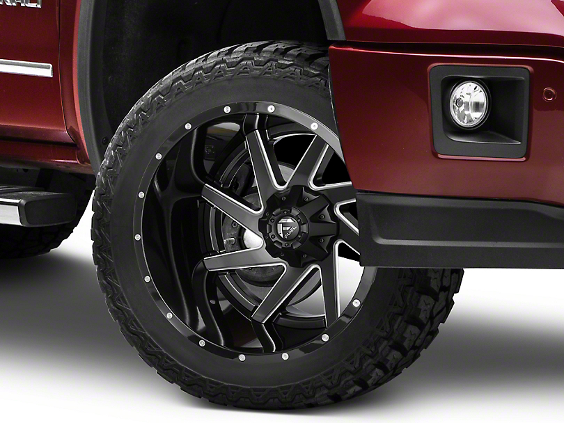 Fuel Wheels Renegade Black Milled 6-Lug Wheel - 22x14 -70mm Offset (07-19 Sierra 1500)