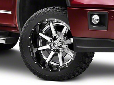 Fuel Wheels Maverick Chrome w/ Gloss Black Lip 6-Lug Wheel - 22x12 (07-18 Sierra 1500)