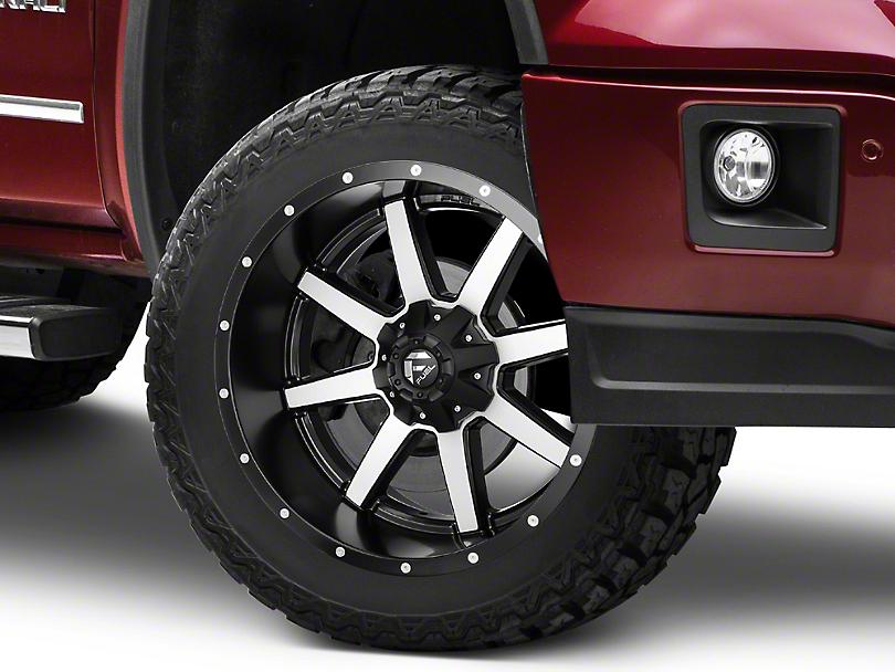 Fuel Wheels Maverick Black Machined 6-Lug Wheel - 22x10 -24mm Offset (07-19 Sierra 1500)