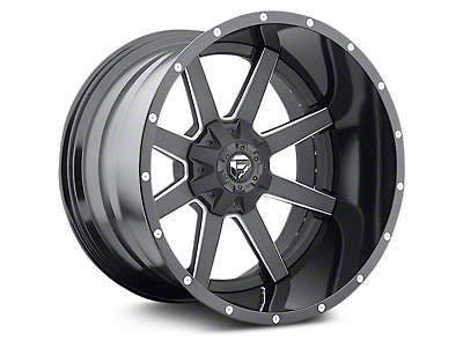 Fuel Wheels Maverick Black Milled 6-Lug Wheel - 22x12 (07-18 Sierra 1500)