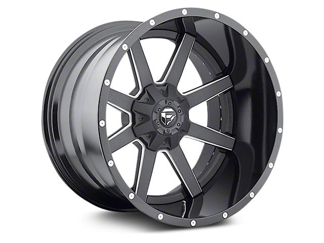 Fuel Wheels Maverick Black Milled 6-Lug Wheel - 22x14 (07-18 Sierra 1500)