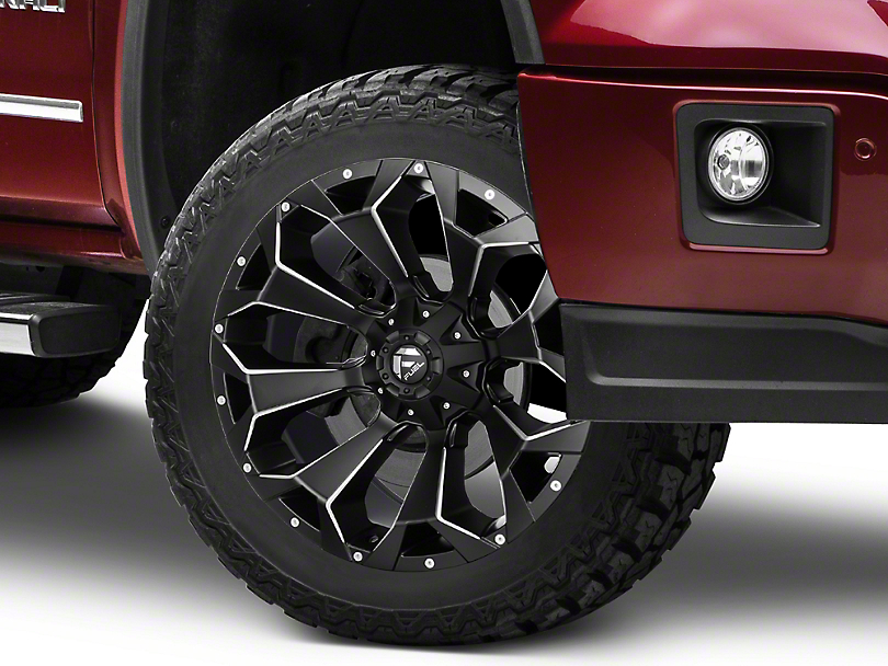 Fuel Wheels Assault Black Milled 6-Lug Wheel - 22x10; -19mm Offset (07-19 Sierra 1500)