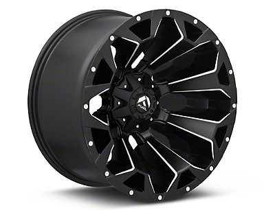 Fuel Wheels Assault Black Miled 6-Lug Wheel - 22x12 (07-18 Sierra 1500)