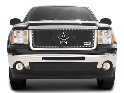 RBP RL Series Smooth Frame Upper Grille Insert - Black (07-13 Sierra 1500, Excluding All-Terrain Package)
