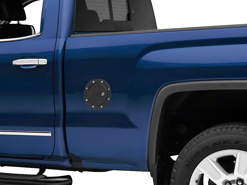 RBP RX-2 Series Locking Fuel Door - Black (14-18 Sierra 1500)