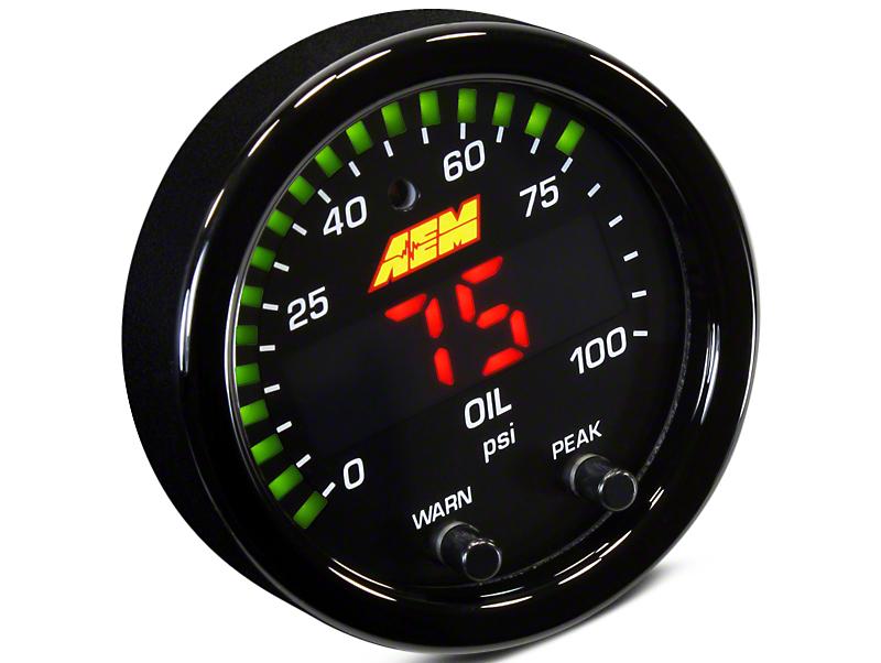 AEM Electronics X-Series Oil Pressure Gauge - Electrical (07-18 Sierra 1500)