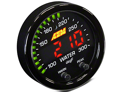 AEM Electronics X-Series Temperature Gauge - Electrical (07-18 Sierra 1500)