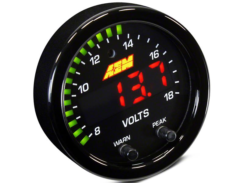 AEM Electronics X-Series Voltmeter Gauge - Electrical (07-18 Sierra 1500)
