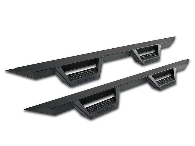Magnum RT Cab Length Side Step Bars; Black (14-18 Sierra 1500 Double Cab, Crew Cab)
