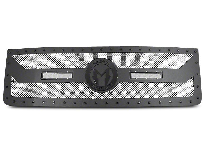 ICI Magnum BL-Series Upper Grille Insert w/ 12 in. LED Light Bars - Black (14-15 Sierra 1500)