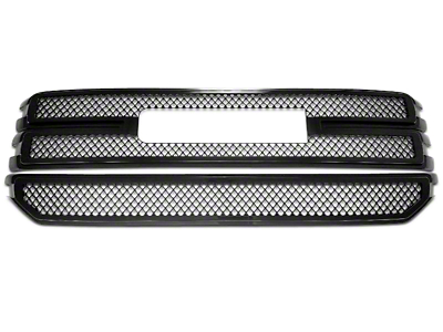Black Horse Off Road Mesh Upper Overlay Grilles - Black (16-18 Sierra 1500 Base, SLE)