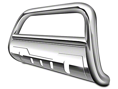 Black Horse Off Road 3.5 in. Savannah Oval Bull Bar - Stainless Steel (07-18 Sierra 1500)