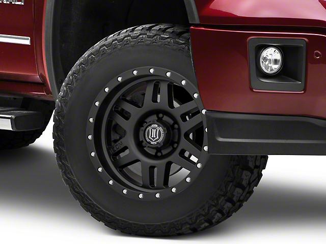 ICON Vehicle Dynamics Six Speed Satin Black 6-Lug Wheel; 17x8.5; 0mm Offset (07-20 Sierra 1500)